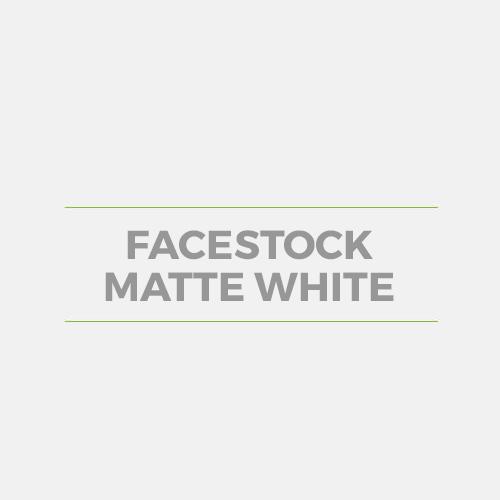 Facestock Matte White