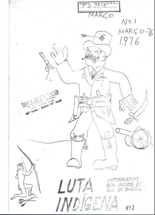 Coleção do Jornal Luta Indígena do acervo CIMI-SUL e disponível no Armazém Memória