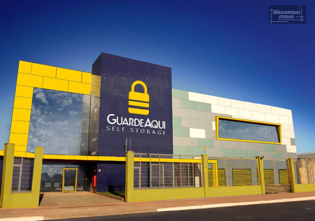 Fotografia da fachada do GuardeAqui Unidade Cidade do Automóvel