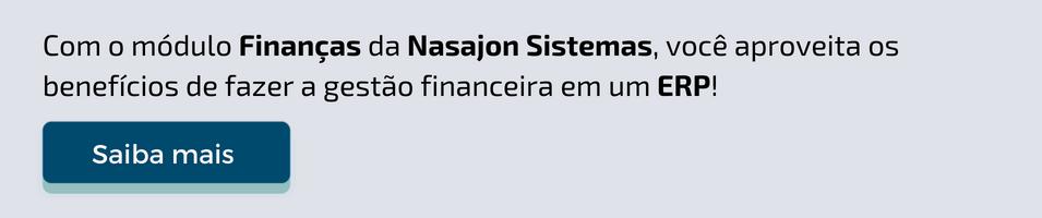 Módulo Finanças do Integratto ERP da Nasajon Sistemas