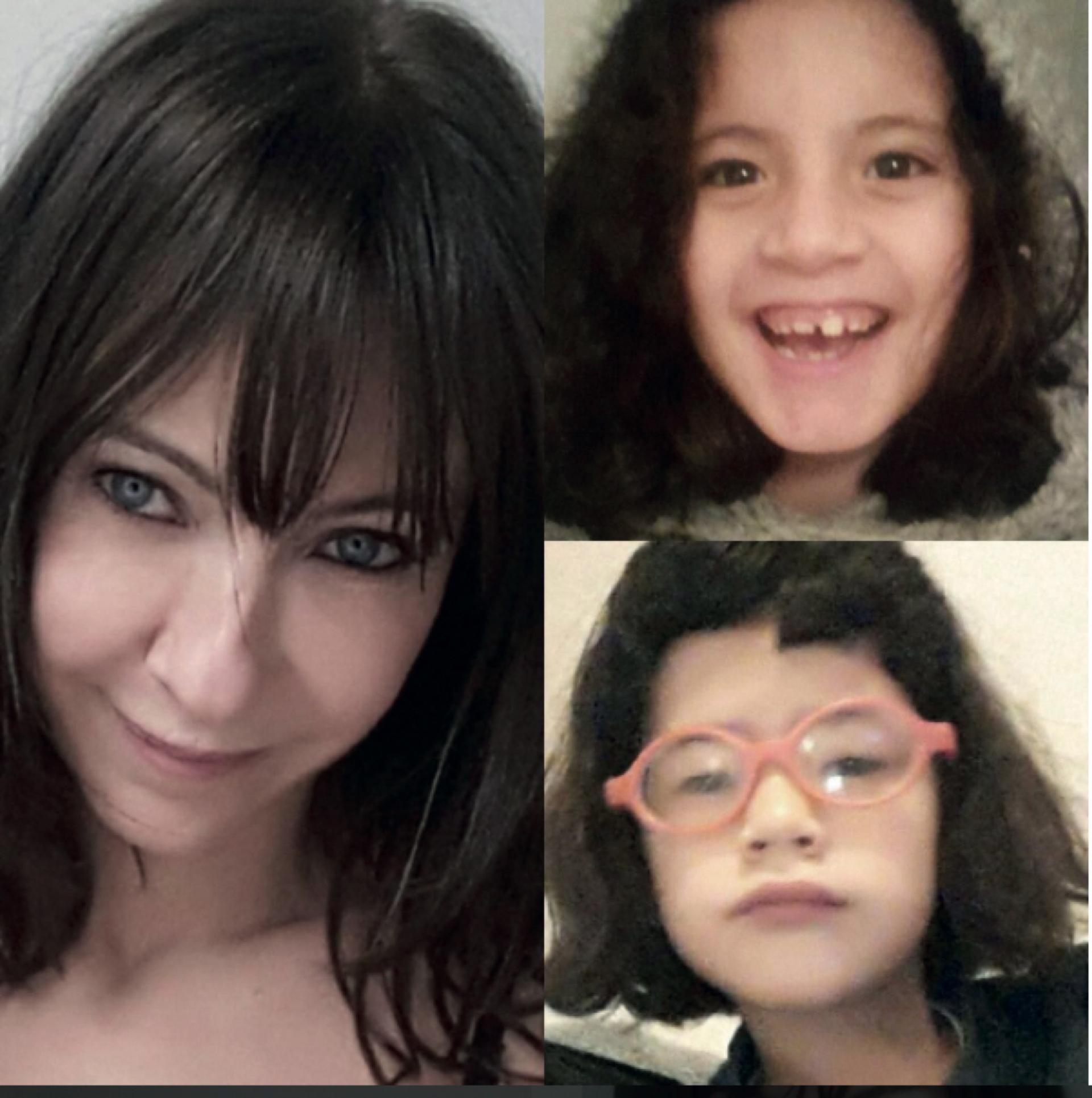 1. Inés en una de las imágenes con sus hijas, Vida y Cielo, que sube al Instagram
