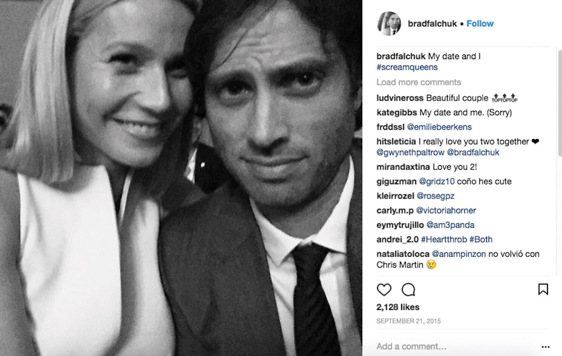 #PARA TI - PALTROW COMPROMETIDA - news - Gwyneth Paltrow y Brad Falchuk - instagram - 20171201