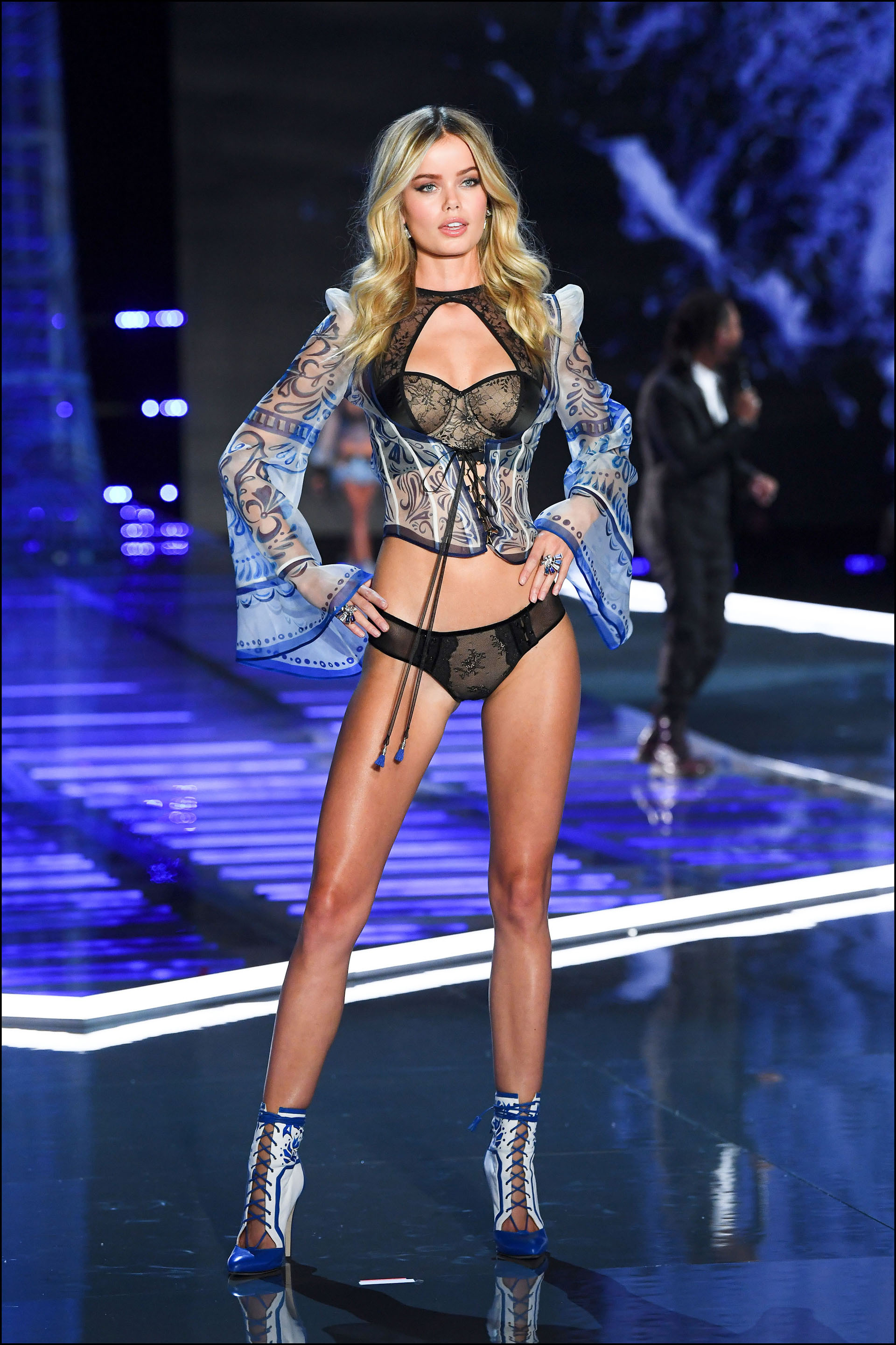 Frida Aasen is seen on stage at the Victoria