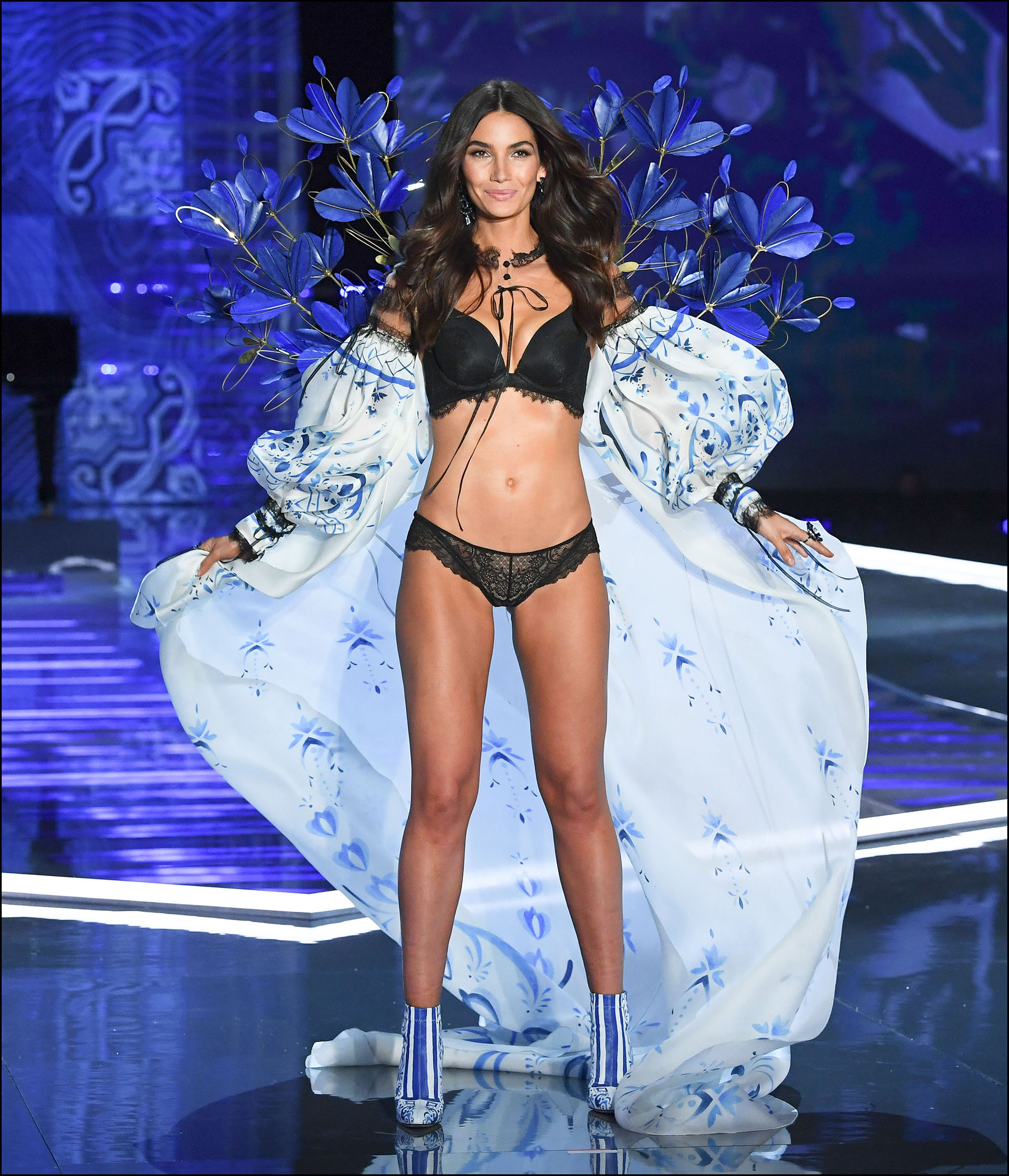 Lily Aldridge is seen on stage at the Victoria