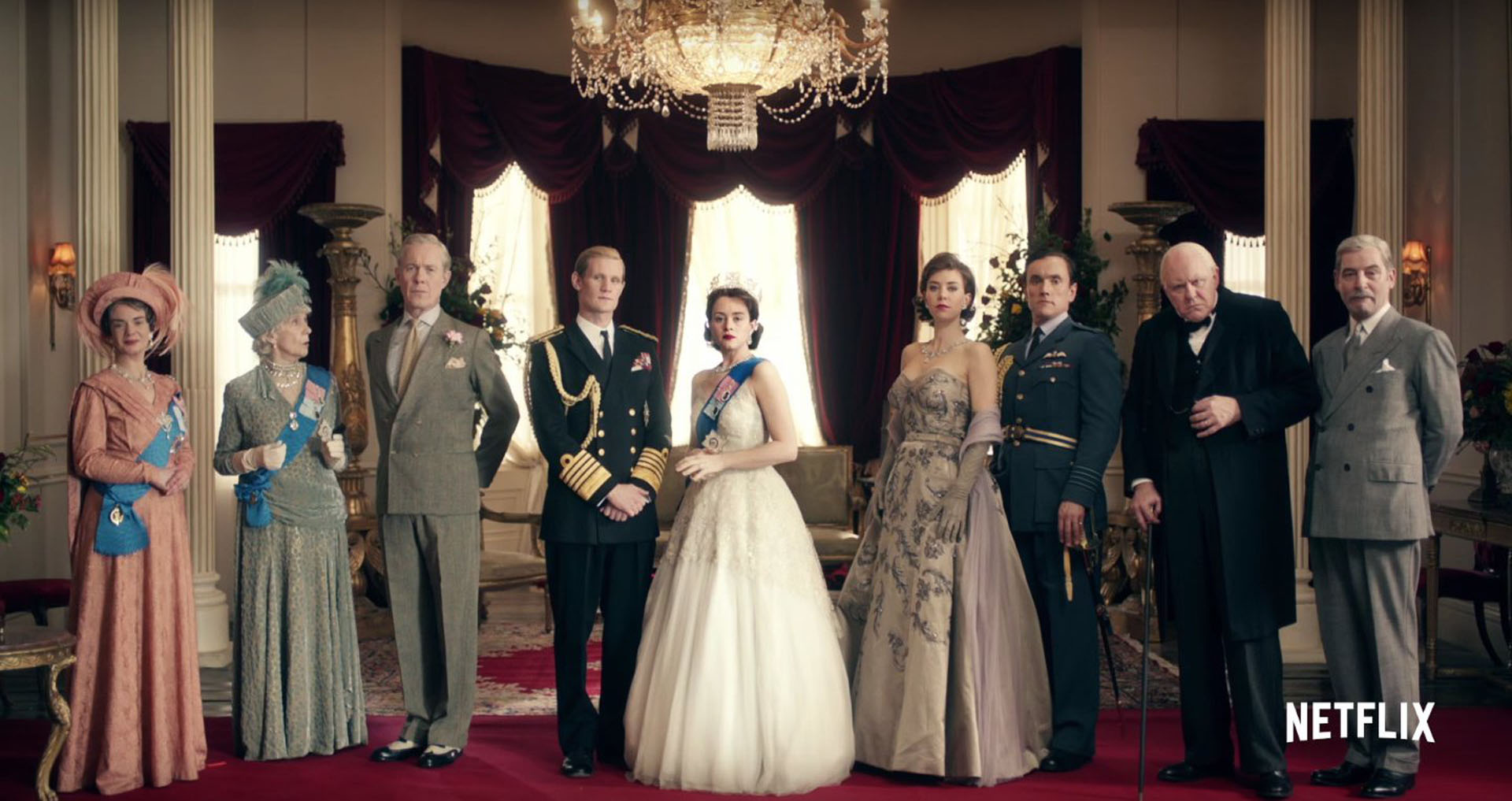 "Los protagonistas de ""The Crown"""