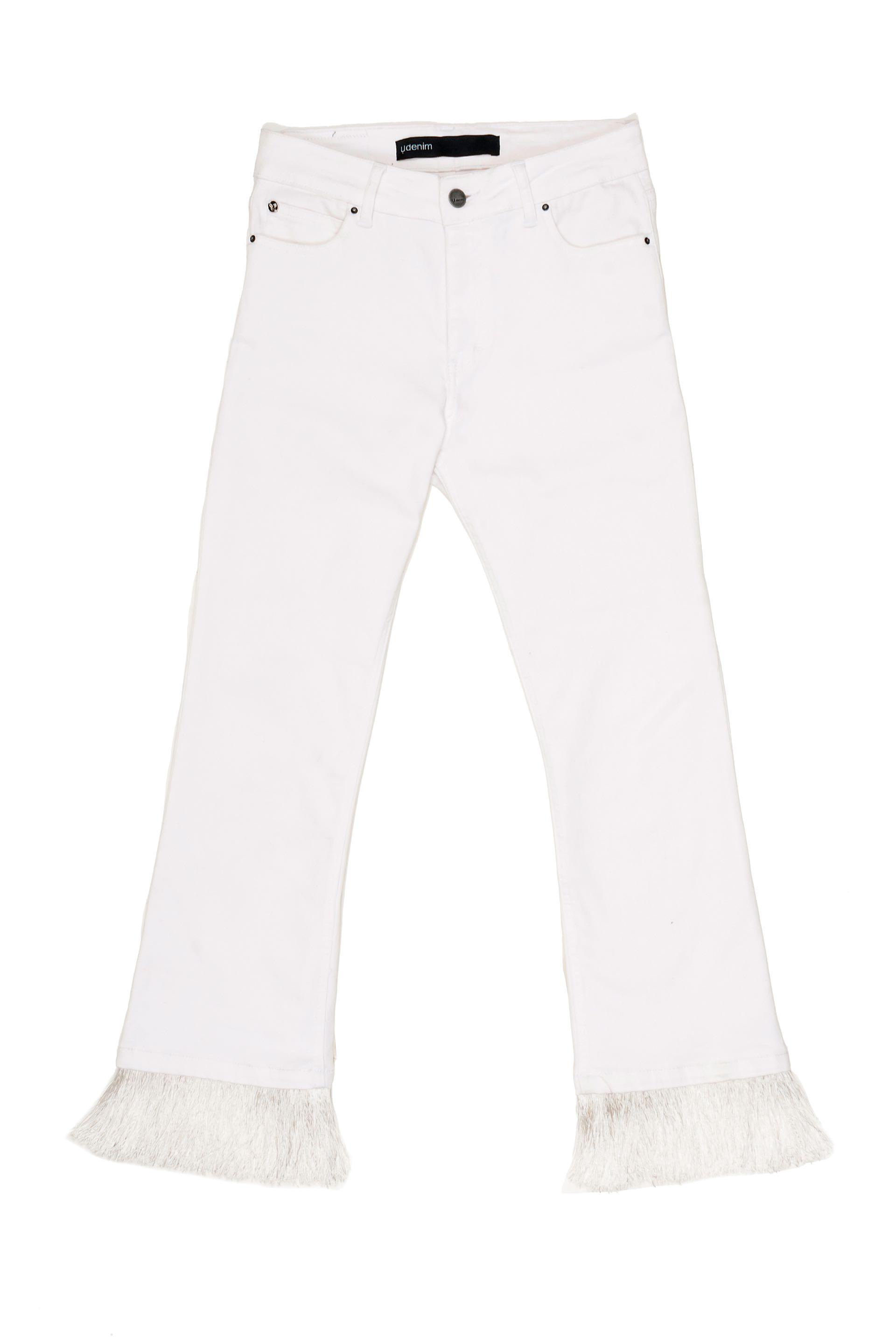 Jean de tiro alto con volados ($ 2.600, Uma).