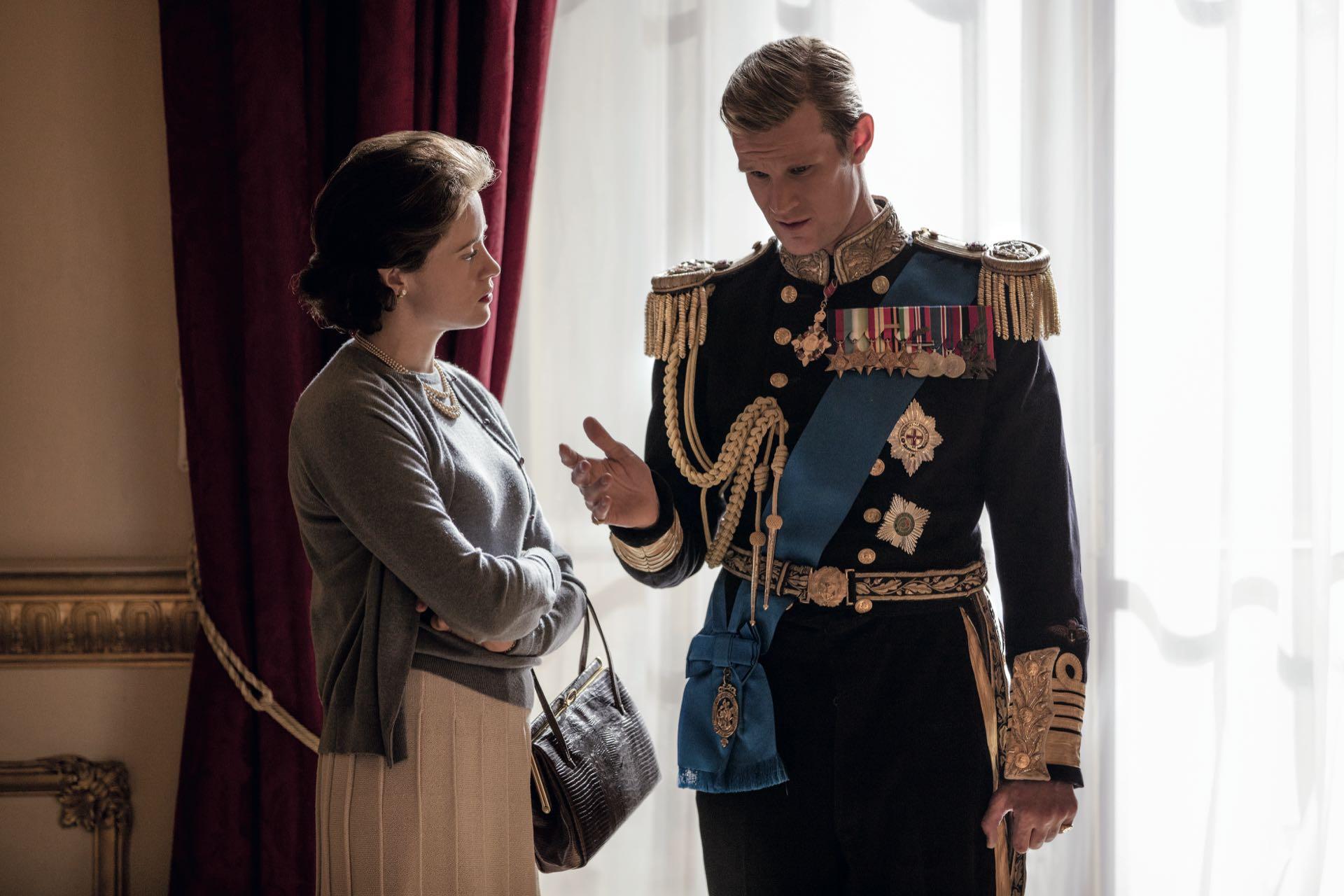 La serie The Crown, de Netflix, retrata la vida de la reina Isabel II del Reino Unido (91), interpretada por Claire Foy. Son casi siete décadas de matrimonio con el príncipe Felipe de Edimburgo (95), interpretado por Matt Smith.