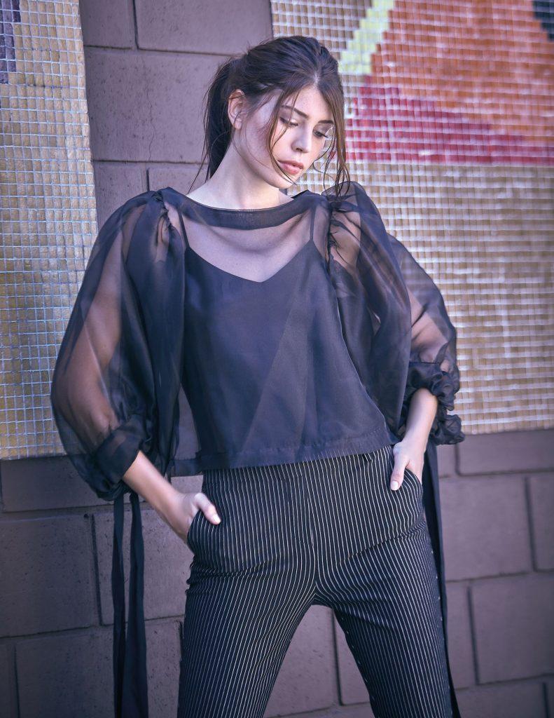 #PARA TI - MODA URBANA- moda - Blusa de gasa Allo Martinez - JR - 20180309