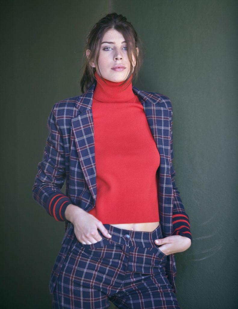 #PARA TI - MODA URBANA- moda - Saco y pantalon escoces Florencia Rey - JR - 20180309