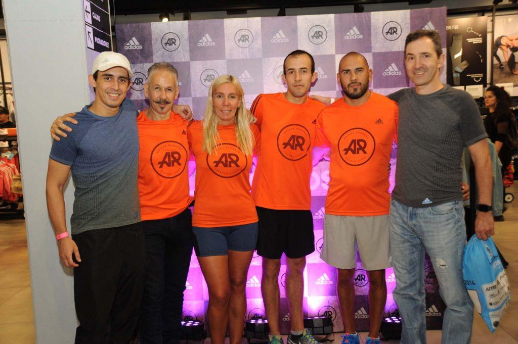 El running team de la sede de Sarmiento estuvo presente en el evento realizado en el local de adidas de Unicenter.