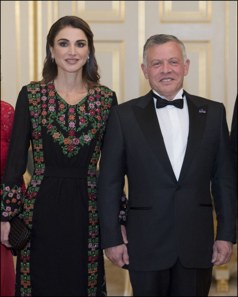 La reine Rania et le roi Abdallah II de Jordanie - Le roi et la reine des Pays-Bas reÁoivent le roi et la reine de Jordanie pour un dÓner au palais Noordeinde ‡ La Haye, Pays-Bas, le 20 mars 2018. Queen and King of Jordan, King and Queen of The Netherlands during the official dinner at Noordeinde palace in The Hague, Netherlands, on March 20, 2018.