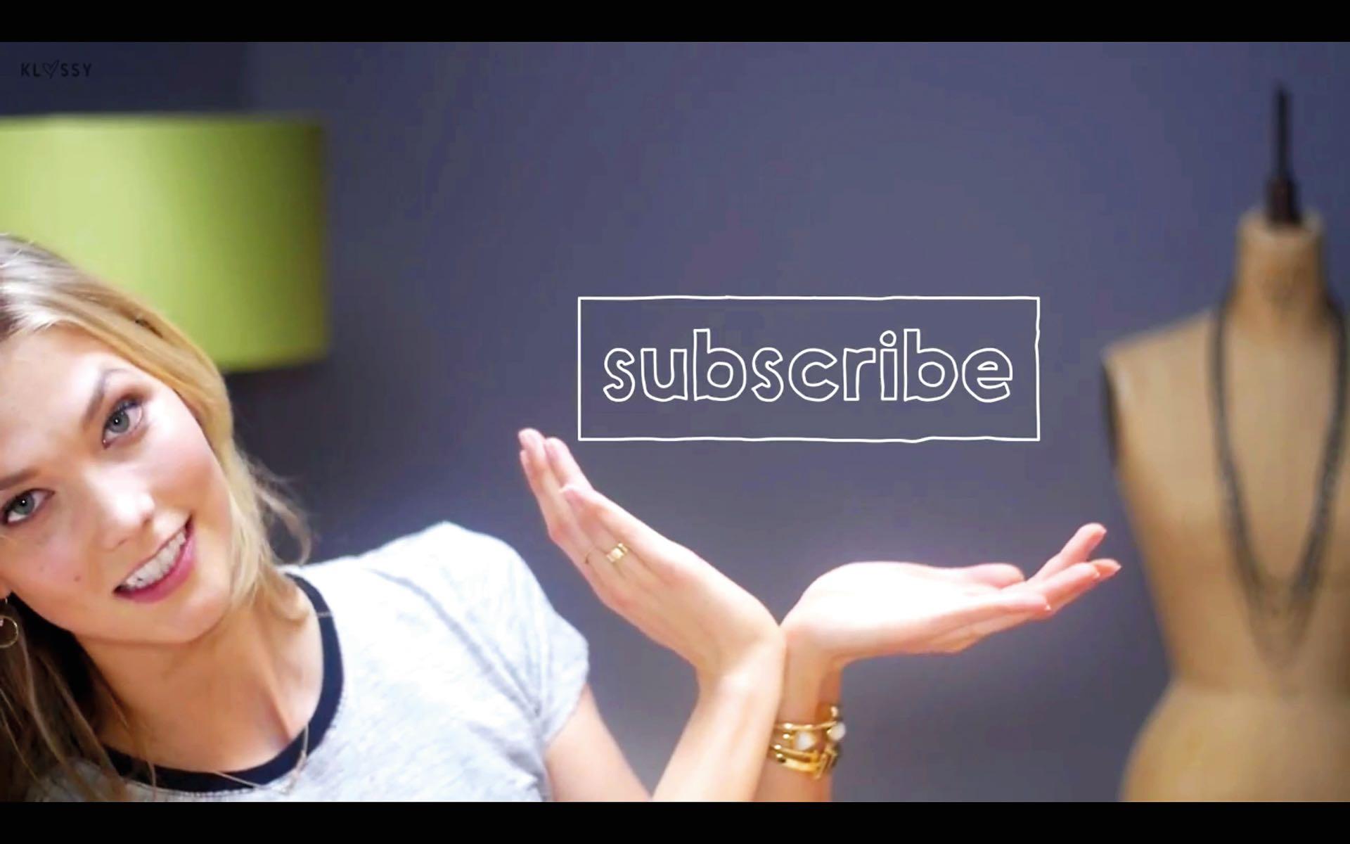 La modelo Karlie Kloss que tiene miles de seguidores en Instagram, también cuenta con su canal de YouTube: Klossy.