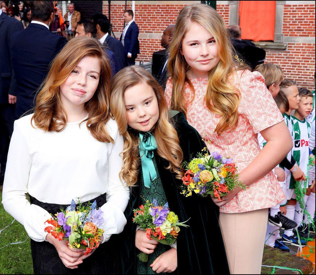 Las tres princesas durante la celebración del