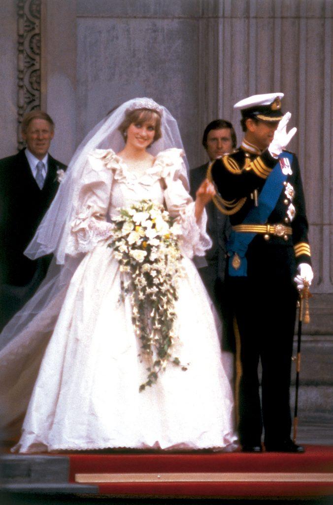 Lady Di con su ramo de novia. Foto: Archivo Atlántida/GENTE