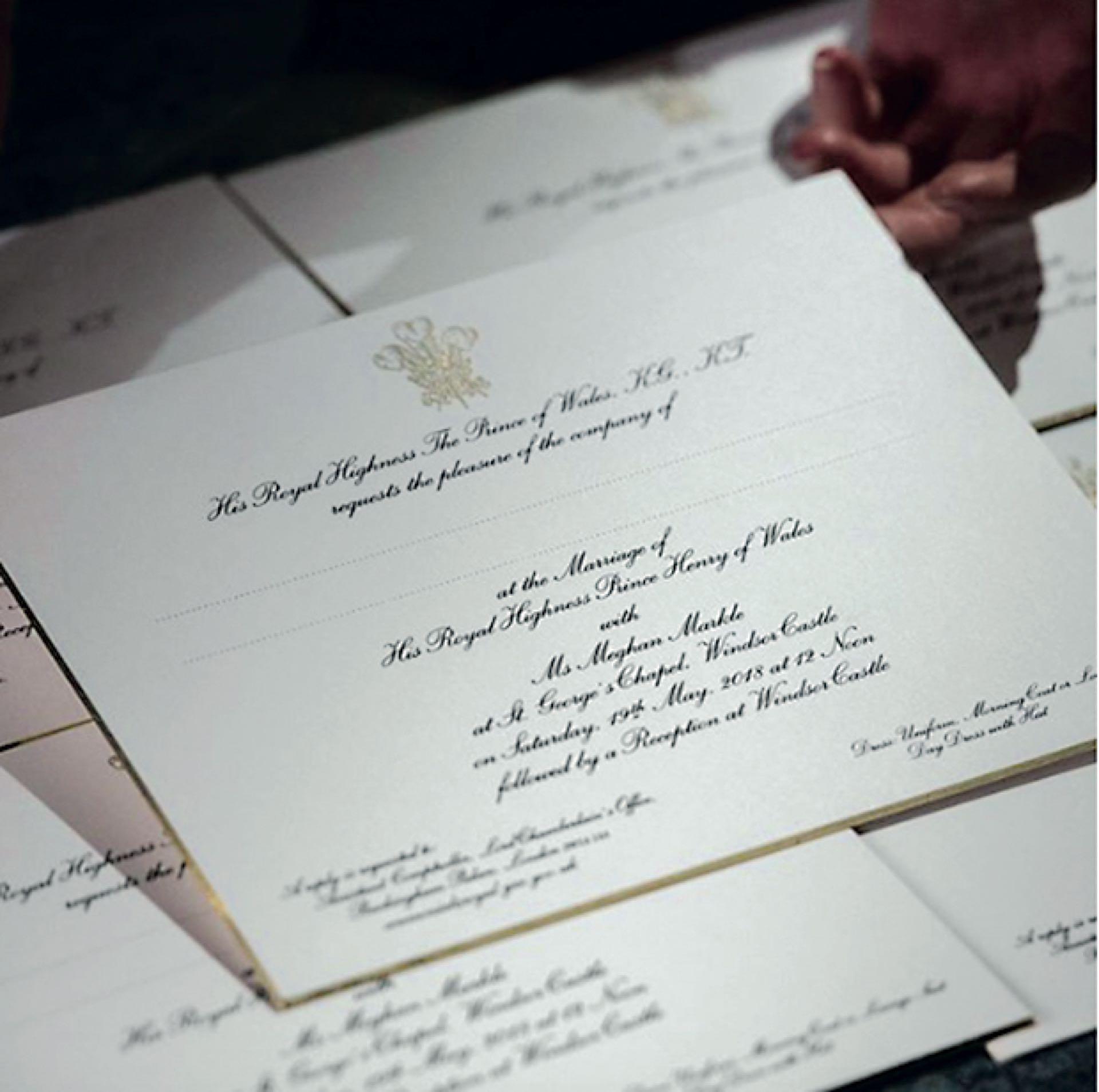 Las invitaciones realizadas por la papelería Barnard and Westwood.