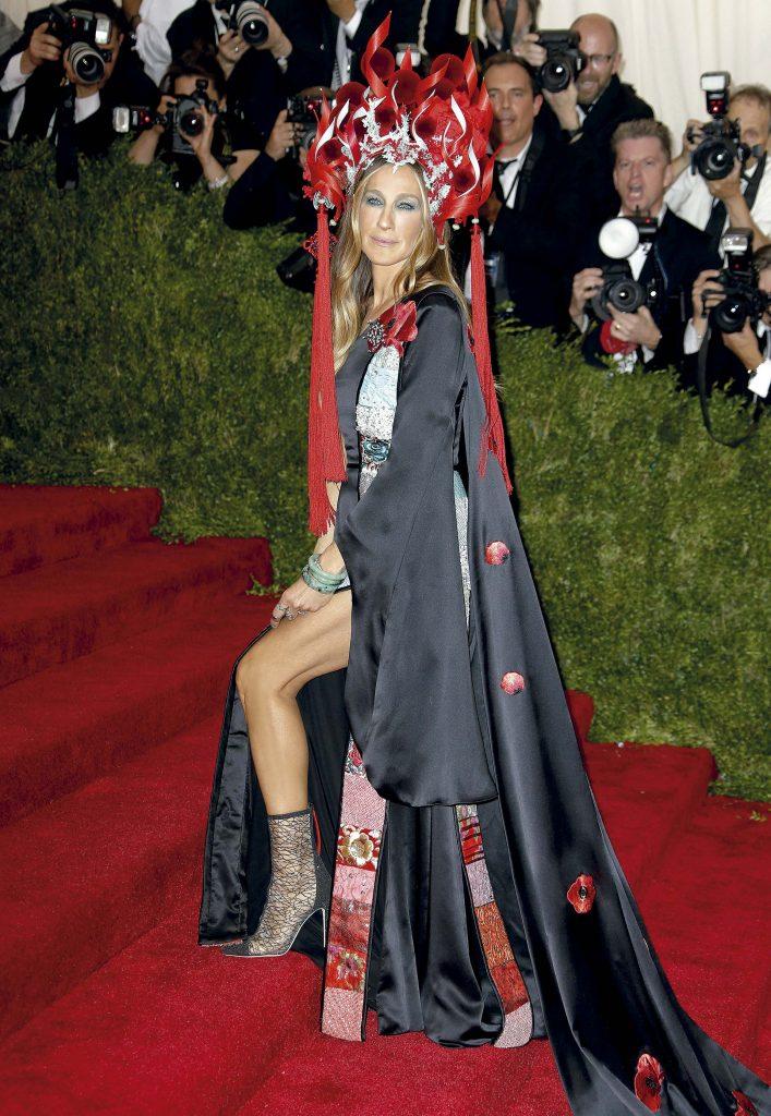 Sarah Jessica Parker con un imponente vestido de H&M