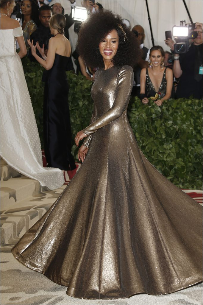 Kerry Washington- metalizada- por Ralph Lauren
