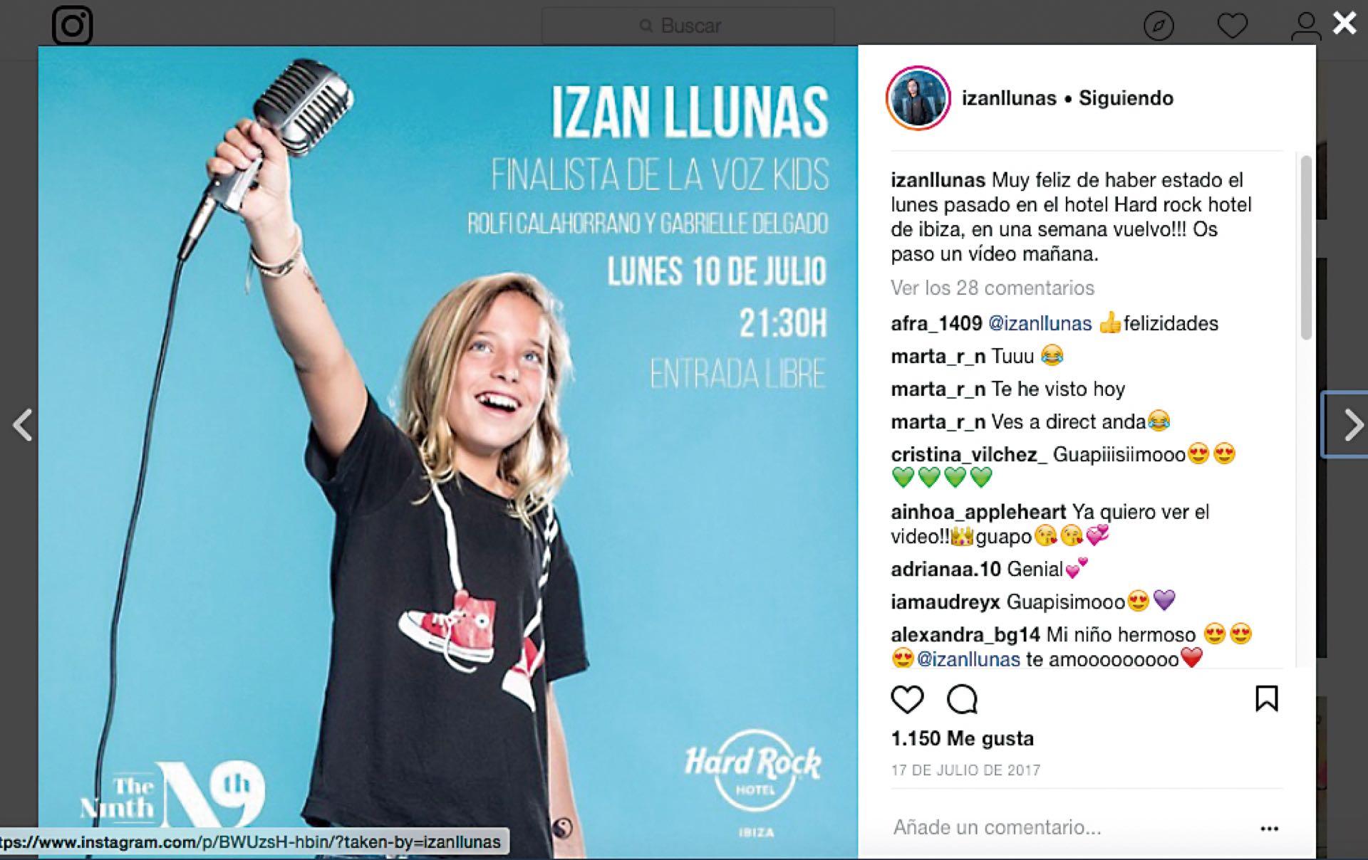 A los 11 años fue finalista de La Voz Kids España.