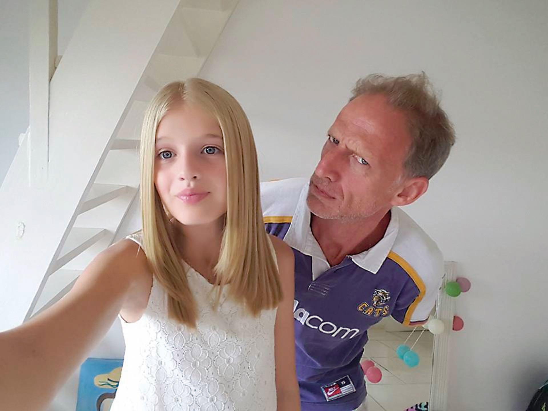 Ezequiel Lo Cane junto a su hija Justina.