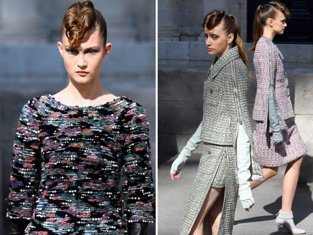 El tweed siempre presenta en la pasarela de Chanel