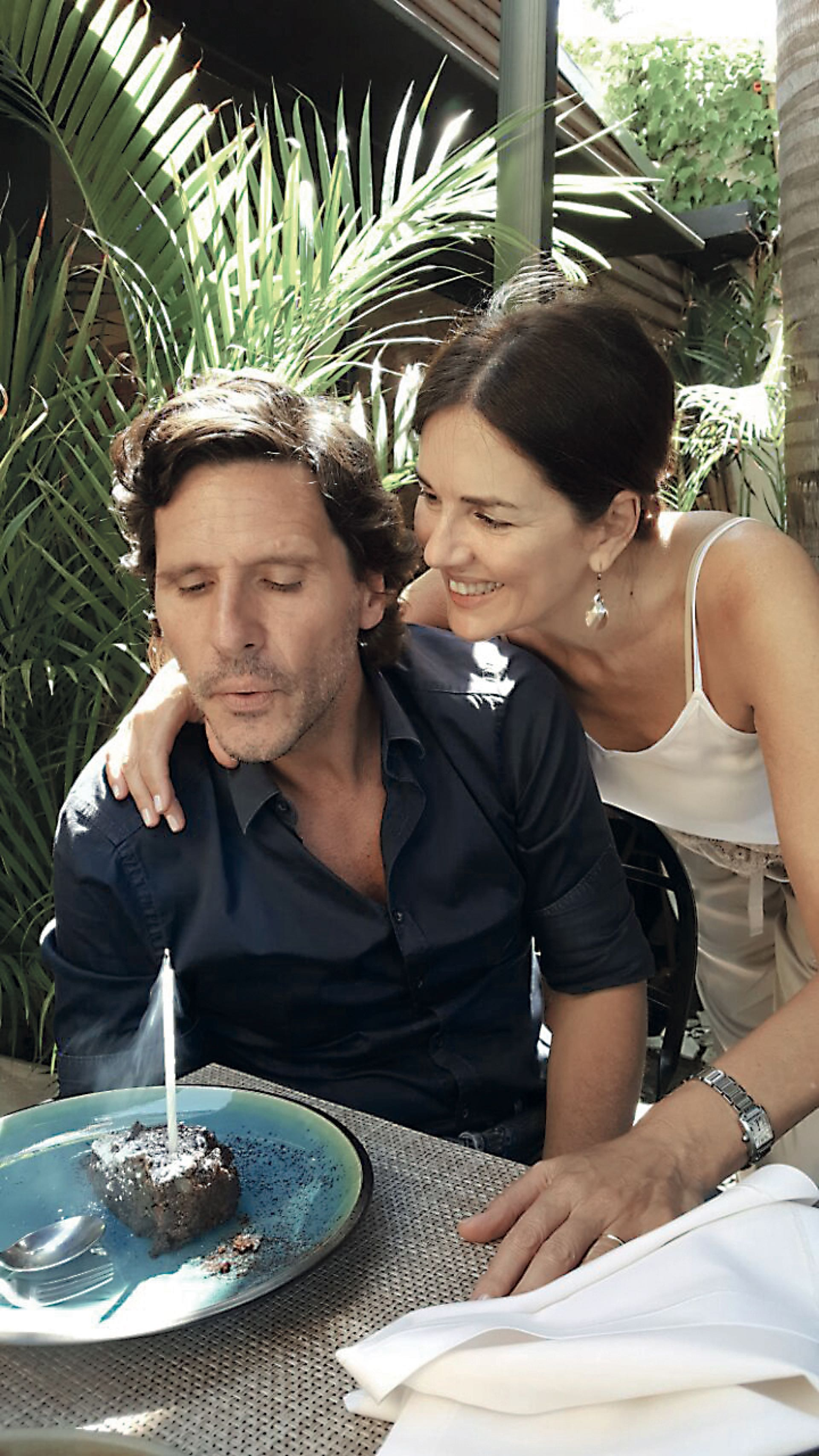 Con su marido Lucas Bocchino.