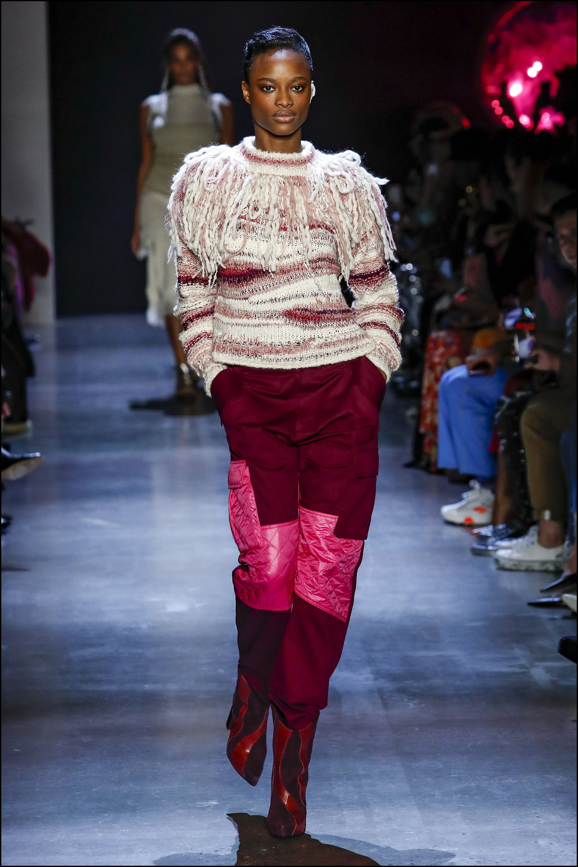 Pantalones con patchwork.