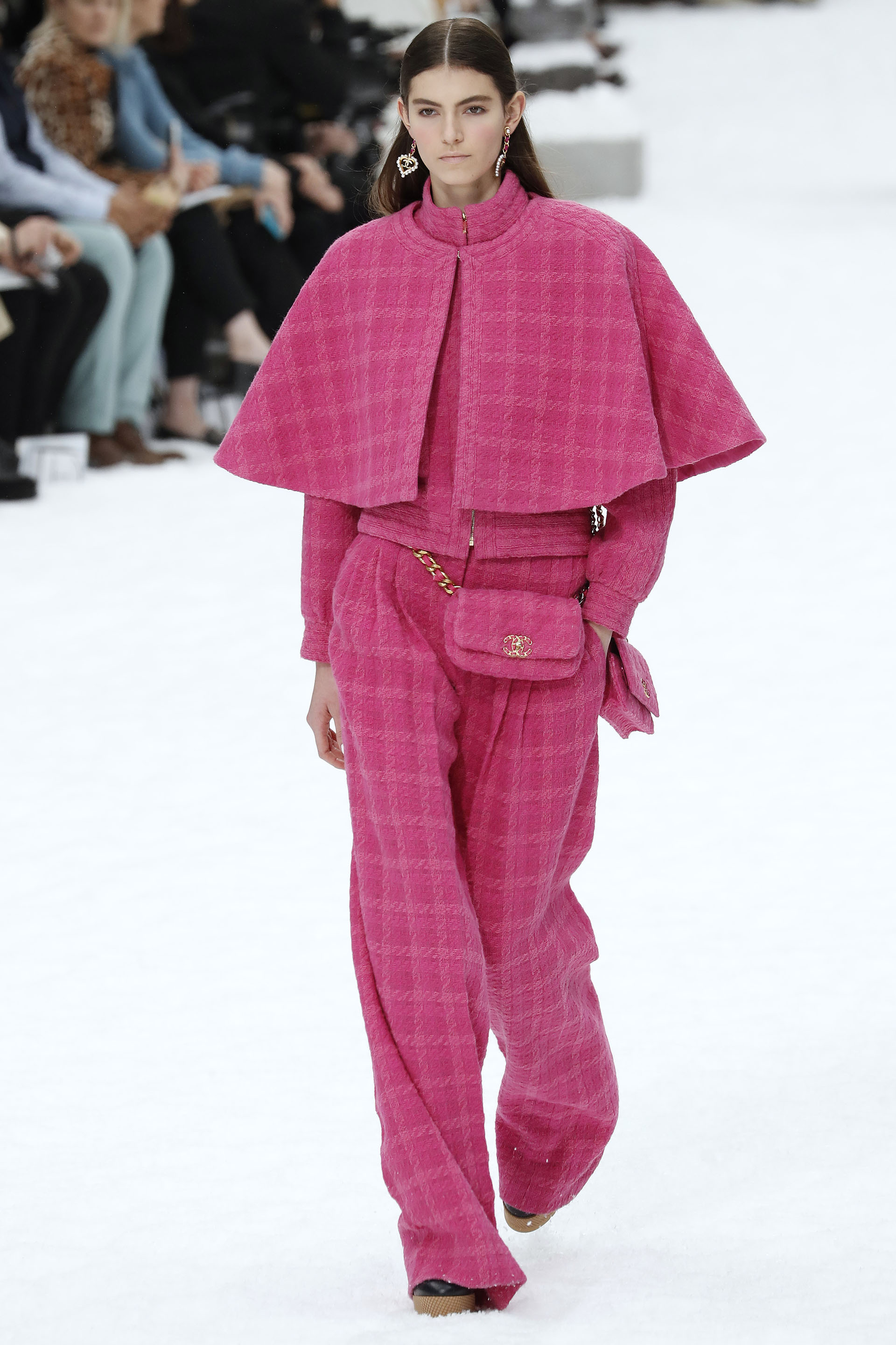 A model presents a creation by Chanel during the Women