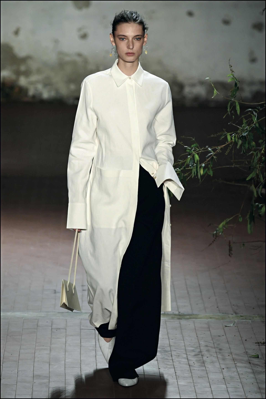 """DÈfilÈ Jil Sander """"Collection PrÍt-‡-Porter Automne/Hiver 2019-2020"""" lors de la Fashion Week de Milan (MLFW), le 21 fÈvrier 2019. Jil Sander Fashion Show """"Ready-to-Wear Fall-Winter 2019/2020"""" at Milan Fashion Week, February 21st, 2019."""