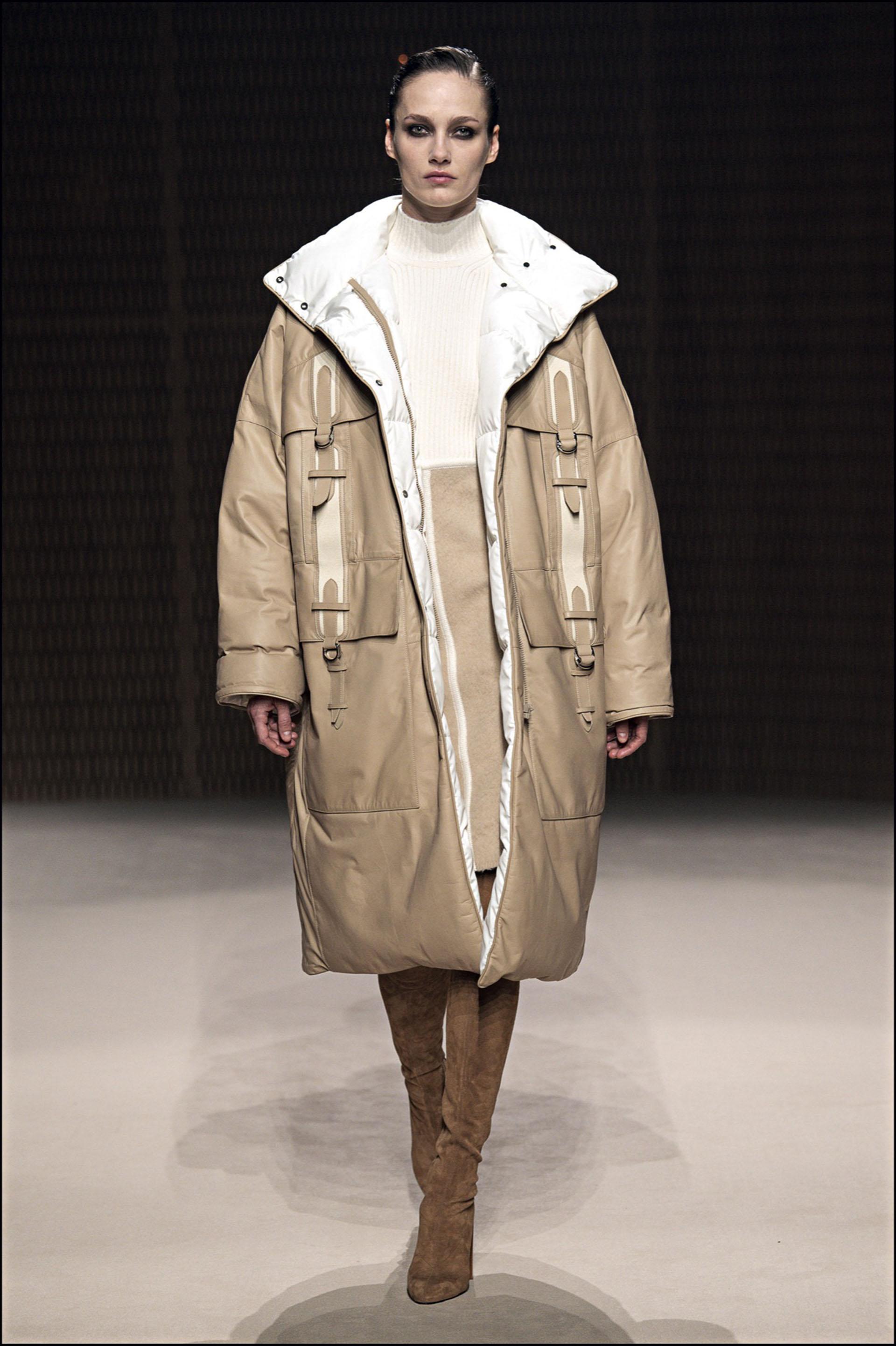 Mannequin - DÈfilÈ de mode HermËs collection prÍt-‡-porter Automne-Hiver 2019/2020 lors de la fashion week ‡ Paris, le 2 mars 2019. HermËs fashion show ready-to-wear Fall-Winter 2019/2020 during the fashion week in Paris, France, on March 2nd 2019.