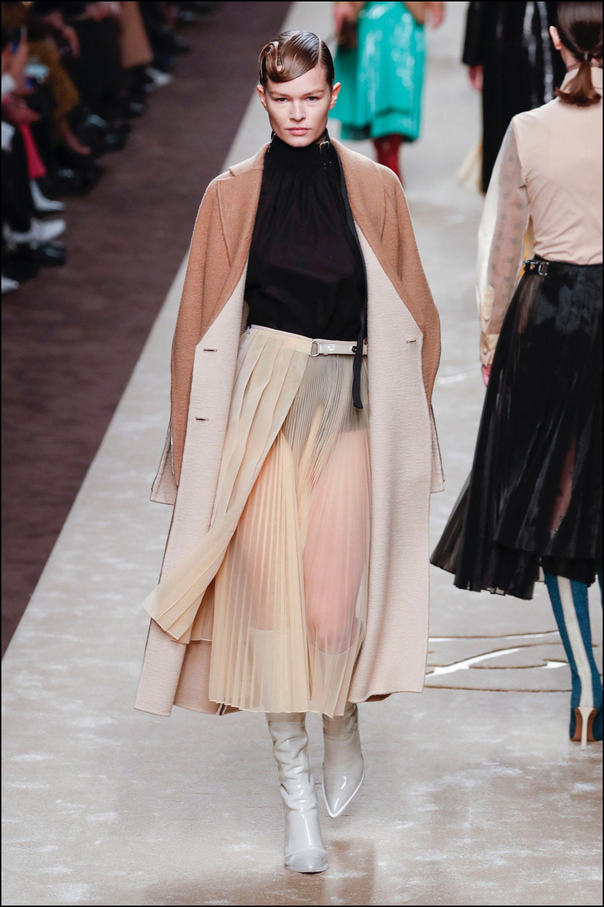 """DÈfilÈ Fendi """"Collection PrÍt-‡-Porter Automne/Hiver 2019-2020"""" lors de la Fashion Week de Milan (MLFW), le 21 fÈvrier 2019. Fendi Fashion Show """"Ready-to-Wear Fall-Winter 2019/2020"""" at Milan Fashion Week, February 21st, 2019."""