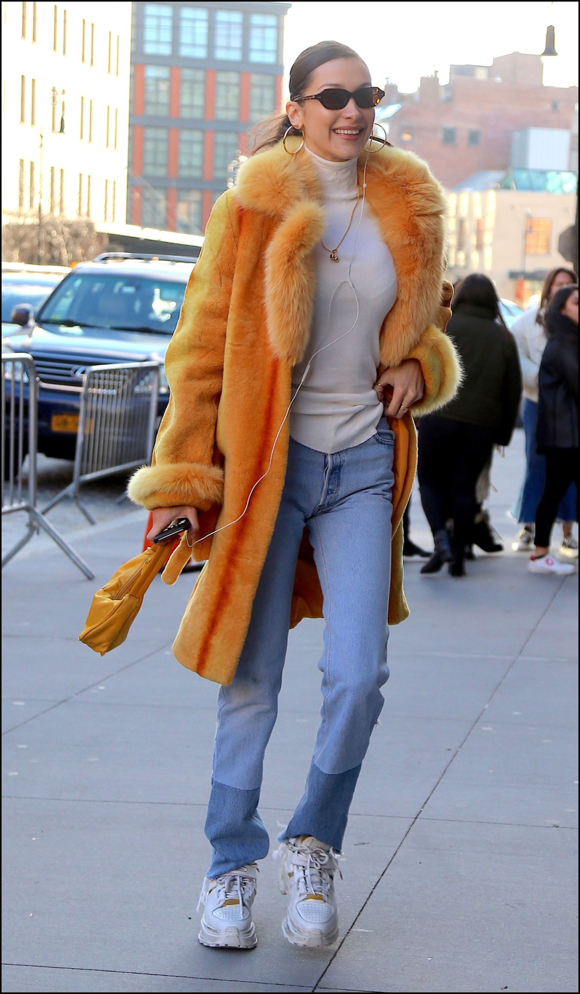 Bella Hadid se promène dans les rues de New York le 29 décembre 2018. Bella Hadid is seen out and about in New York, on December 29th 2018.