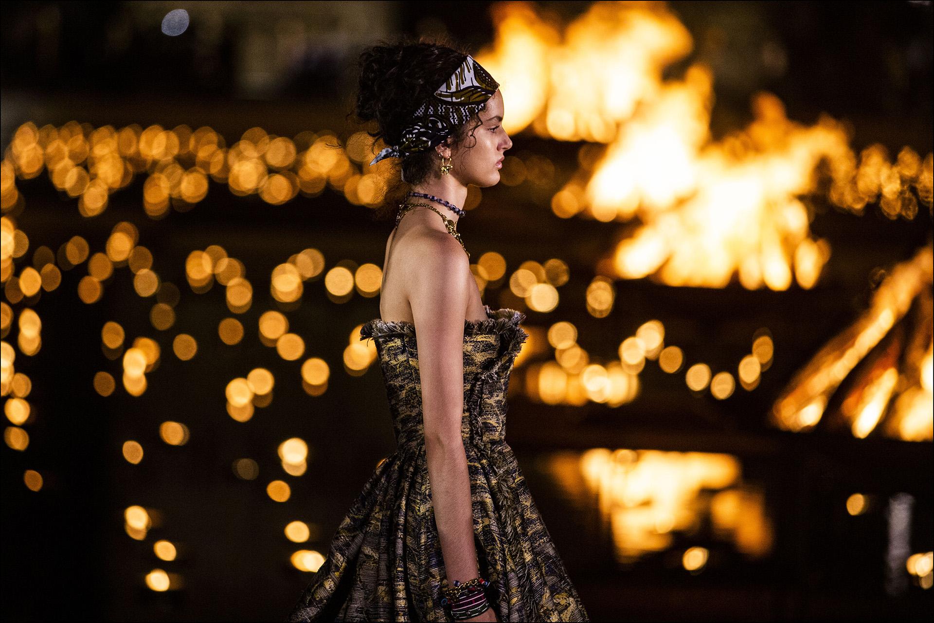 Mannequin - DÈfilÈ CroisiËre Dior au Palais El Badi ‡ Marrakech, le 29 avril 2019. ---- Catwalk - The Christian Dior Couture Cruise Collection in Marrakech, Morocco, on April 29th, 2019.