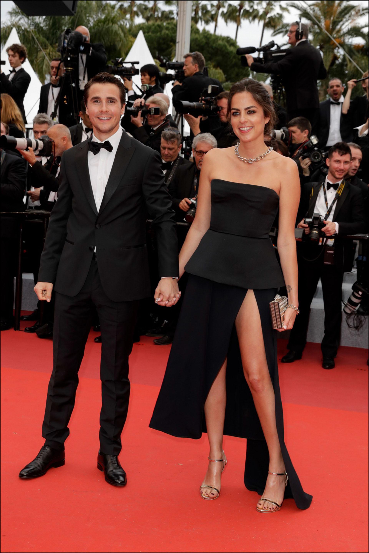 """Julien Dereims et sa compagne Anouchka Delon (Robe Elie Saab) - MontÈe des marches du film """"The Dead Don"""