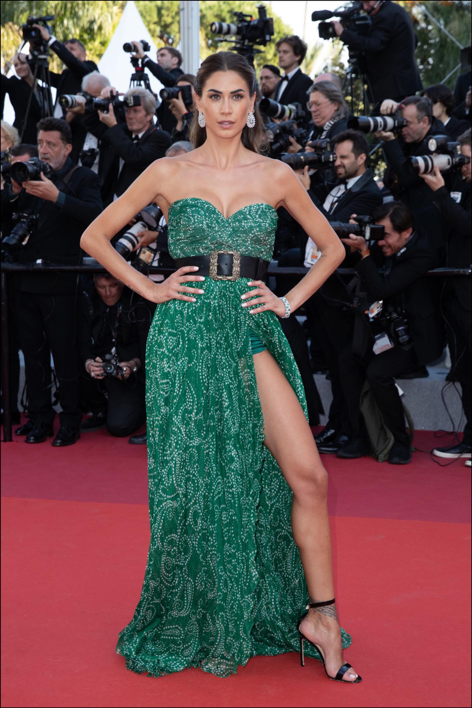 """Melissa Satta - MontÈe des marches du film """"Les MisÈrables"""" lors du 72Ëme Festival International du Film de Cannes. Le 15 mai 2019 --- Red carpet for the movie """"Les Miserables"""" during the 72th Cannes International Film festival. On may 15th 2019"""