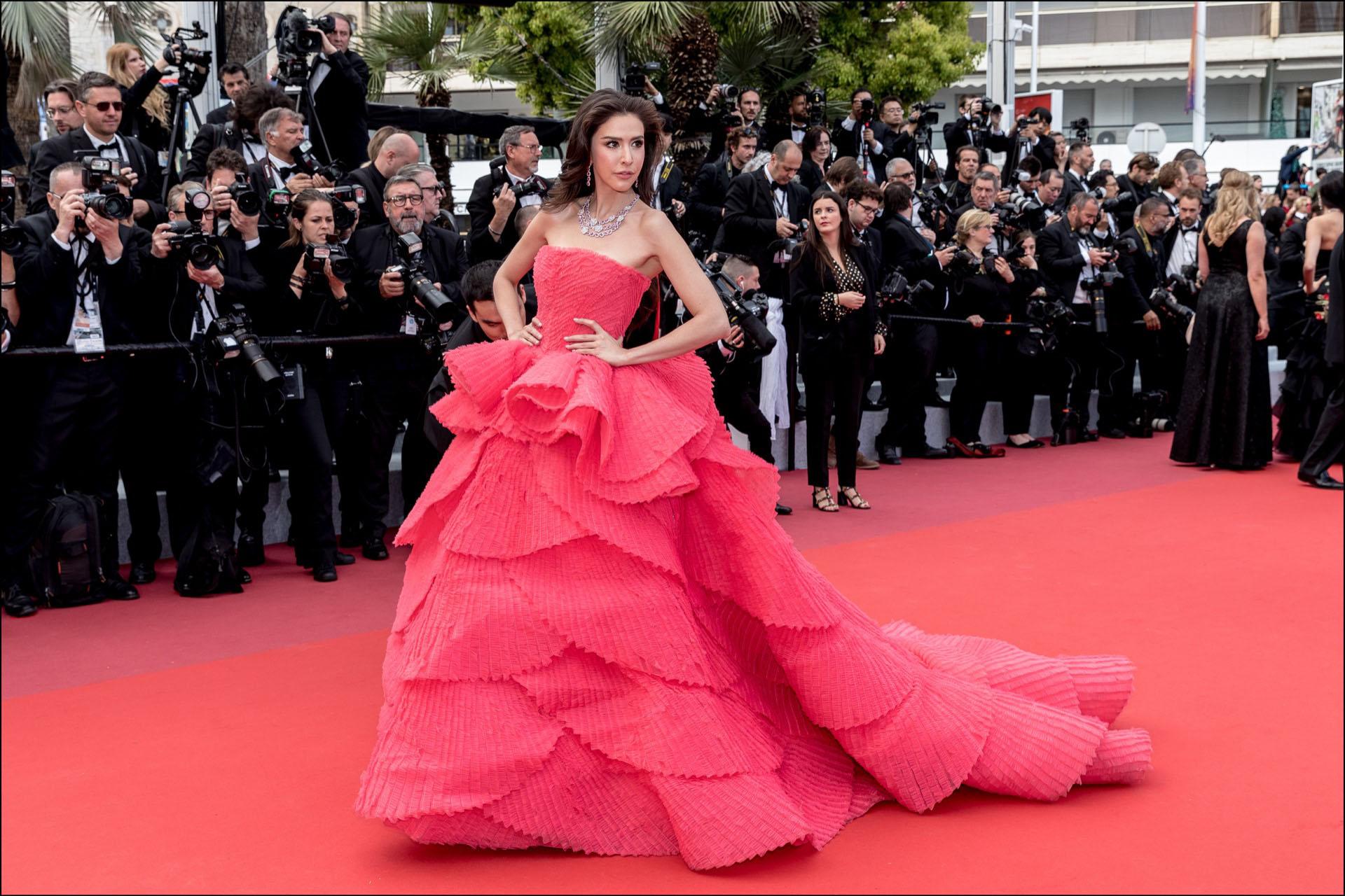 """Sririta Jensen - MontÈe des marches du film """"Les MisÈrables"""" lors du 72Ëme Festival International du Film de Cannes. Le 15 mai 2019 --- Red carpet for the movie """"Les Miserables"""" during the 72th Cannes International Film festival. On may 15th 2019"""