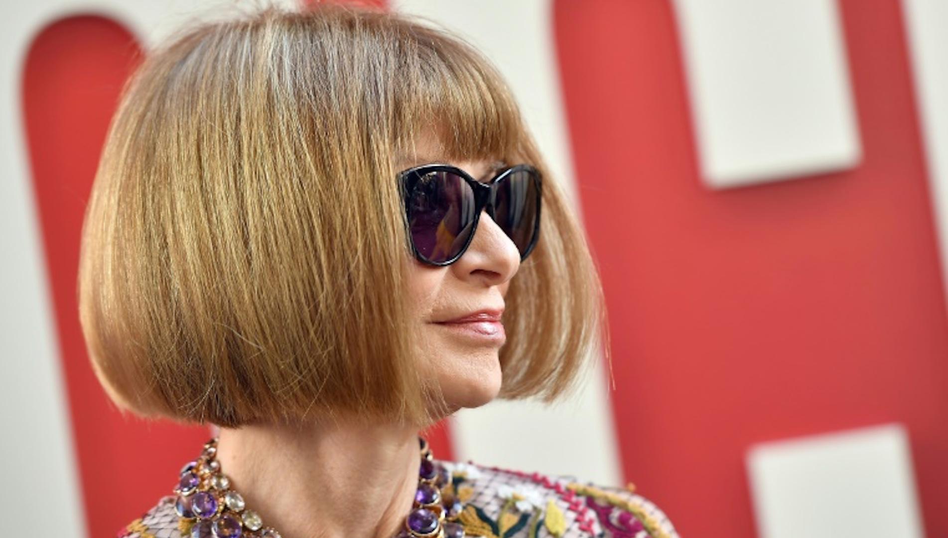 Anna Wintour, aquí el 5 de junio en Nueva York, seguirá desempeñando su papel de editora en jefa de Vogue (AFP/Archivos - ANGELA WEISS)