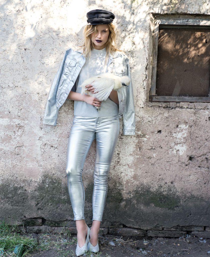 #PARA TI - ANTICIPO COLECCIONES EXTERIORES- moda - campera metalizada Melocoton - JJ - 20180316