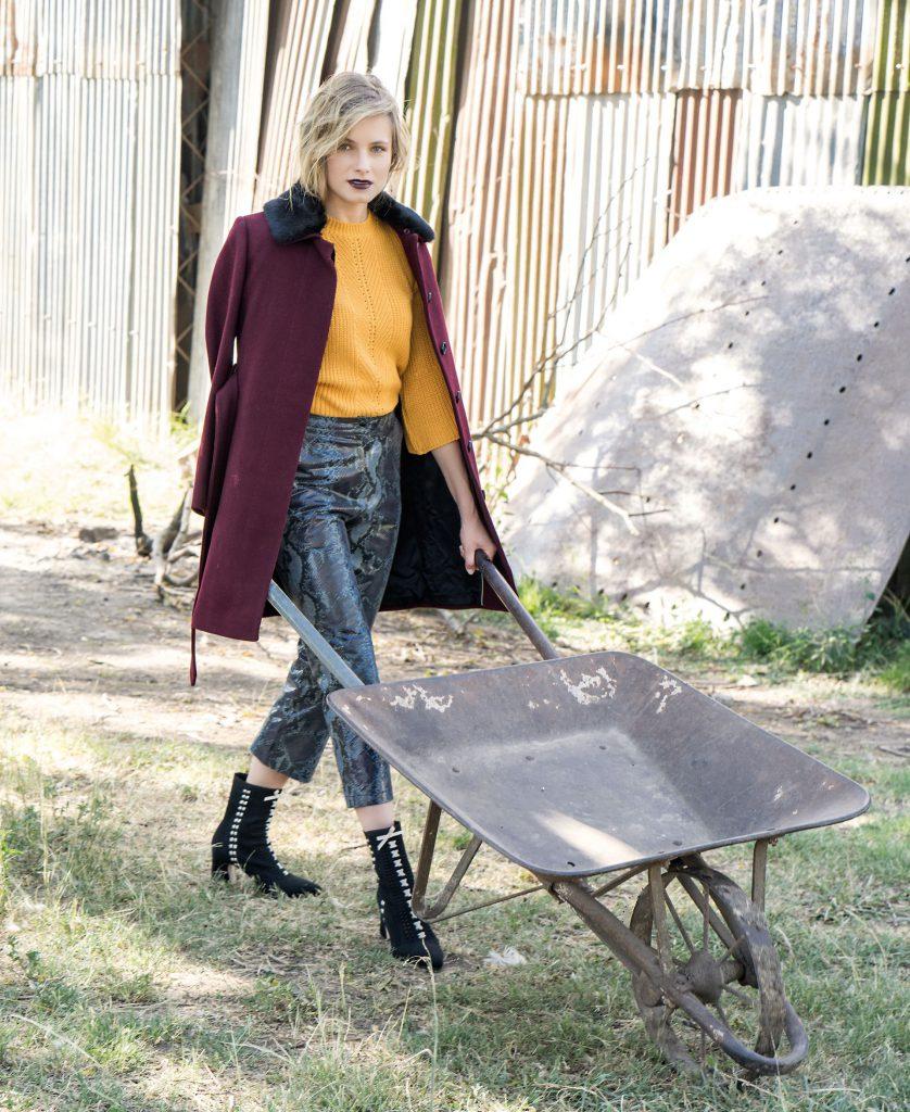 #PARA TI - ANTICIPO COLECCIONES EXTERIORES- moda - tapado con lazo y cuello semi piel vitamina - JJ - 20180316