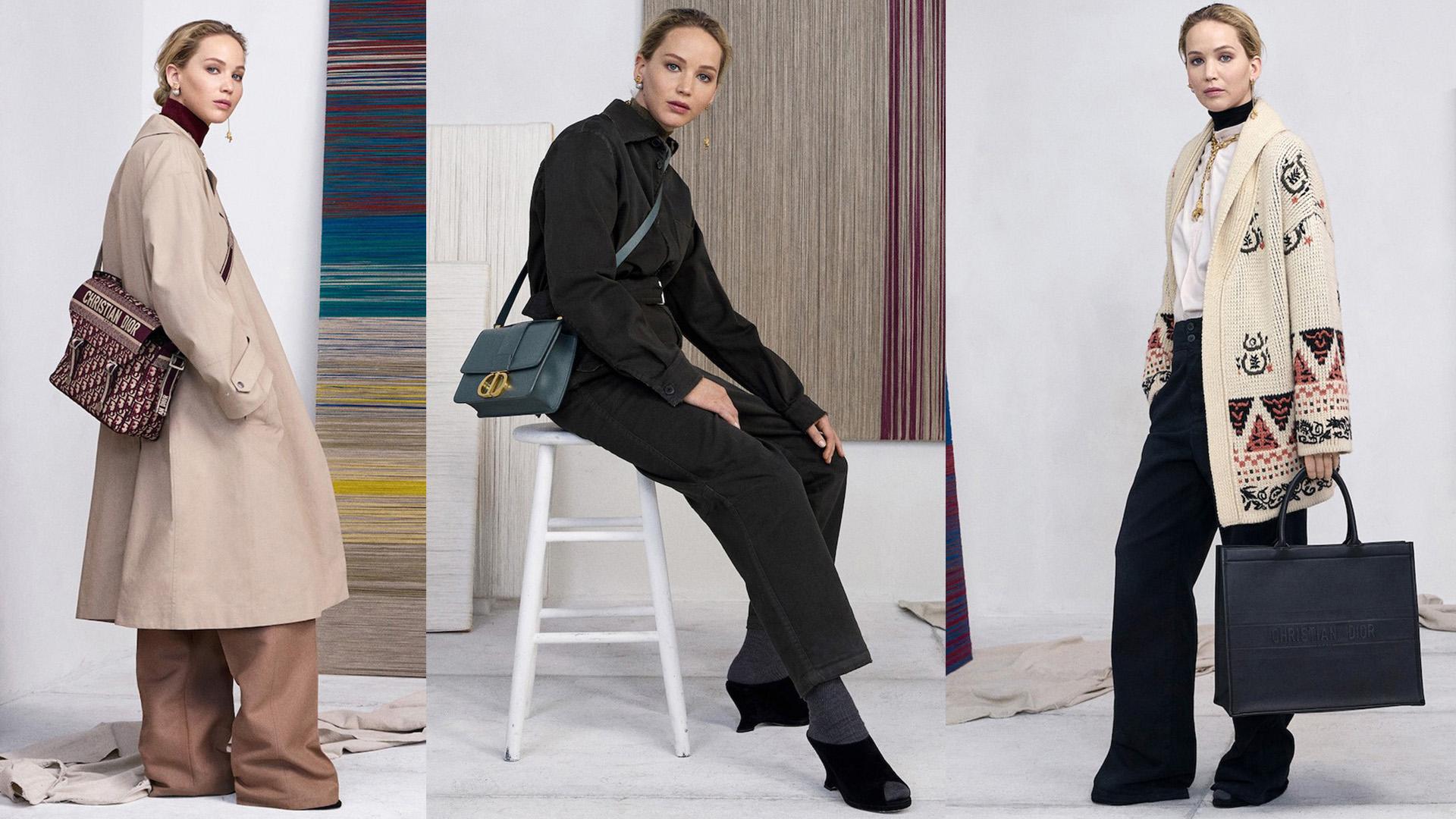 Jennifer Lawrence en la campaña de Dior que le rinde homenaje al lugar donde nació la marca.