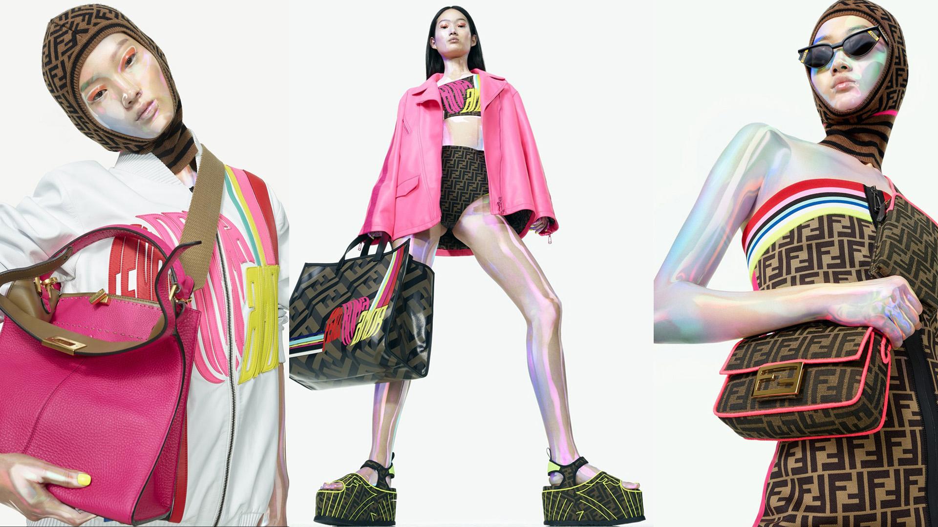 Colores neones, estética deportiva: la nueva colección cápsula de Fendi.