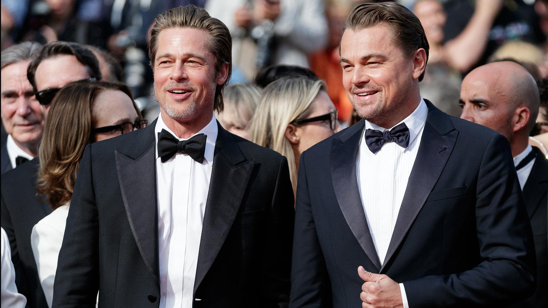 Brad Pitt y Leo DiCaprio robaron todas las miradas en Cannes.