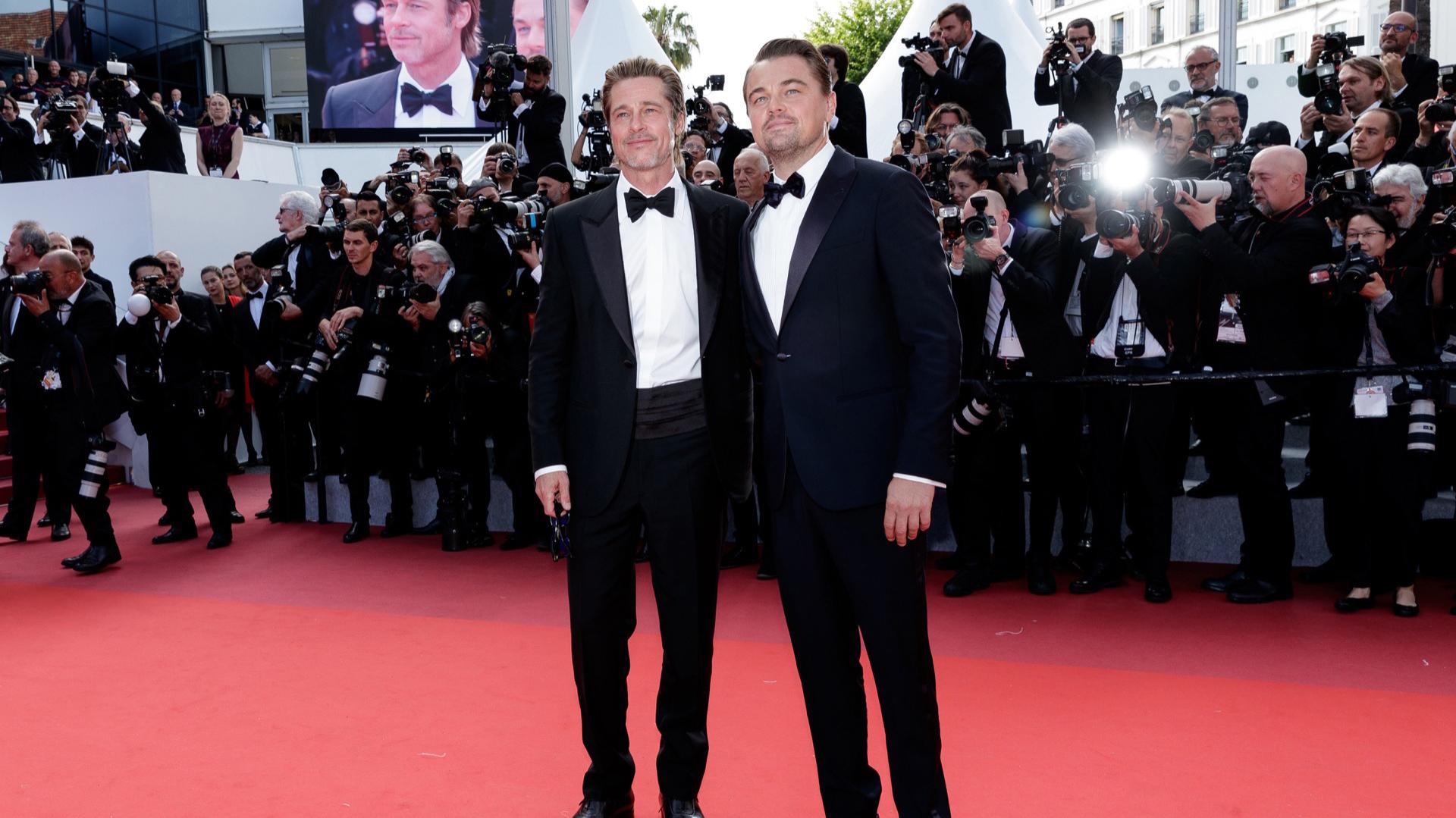 Juntos presentaron en Cannes la película Érase una vez en Hollywood.