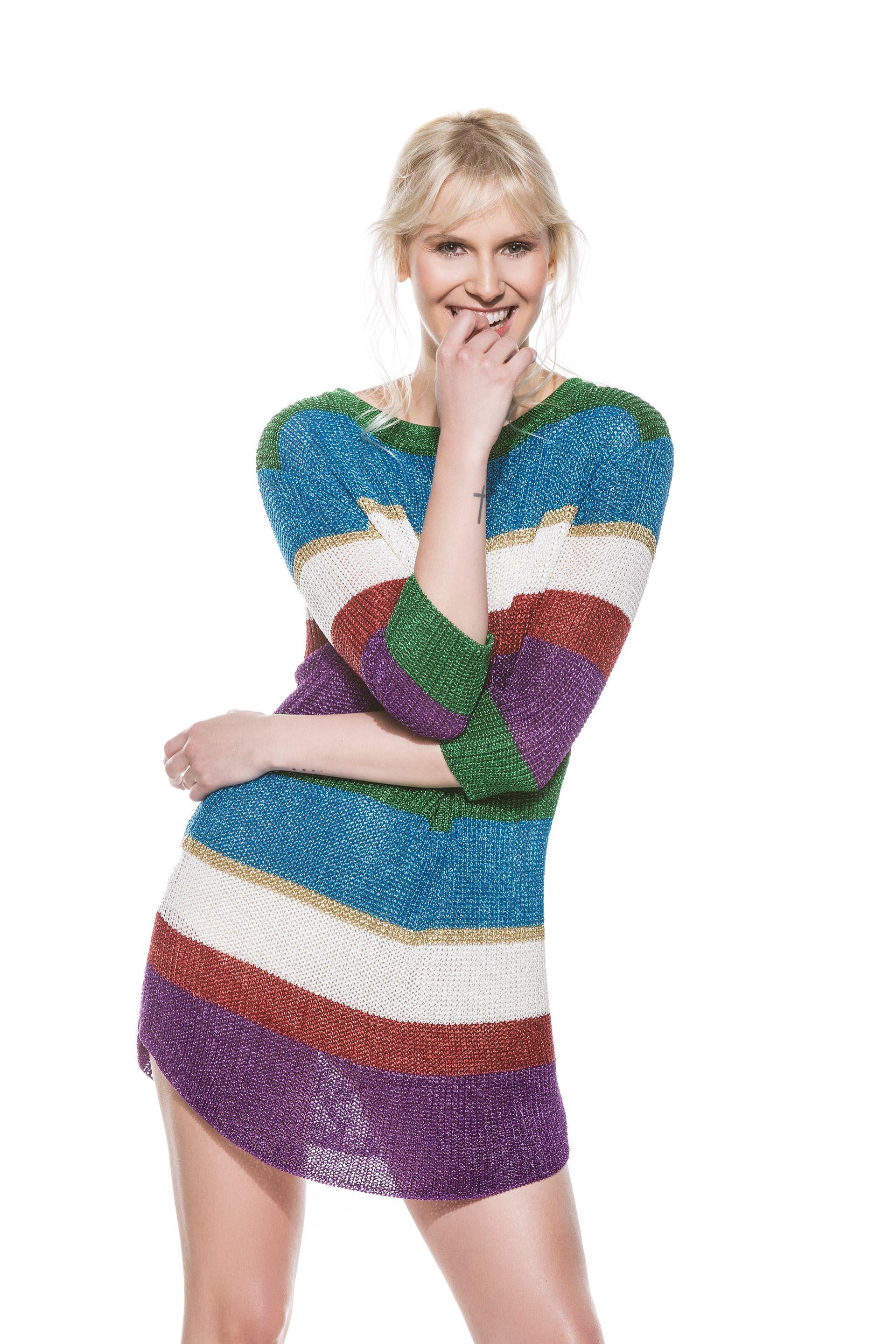 Vestido de lúrex tejido (Cher).