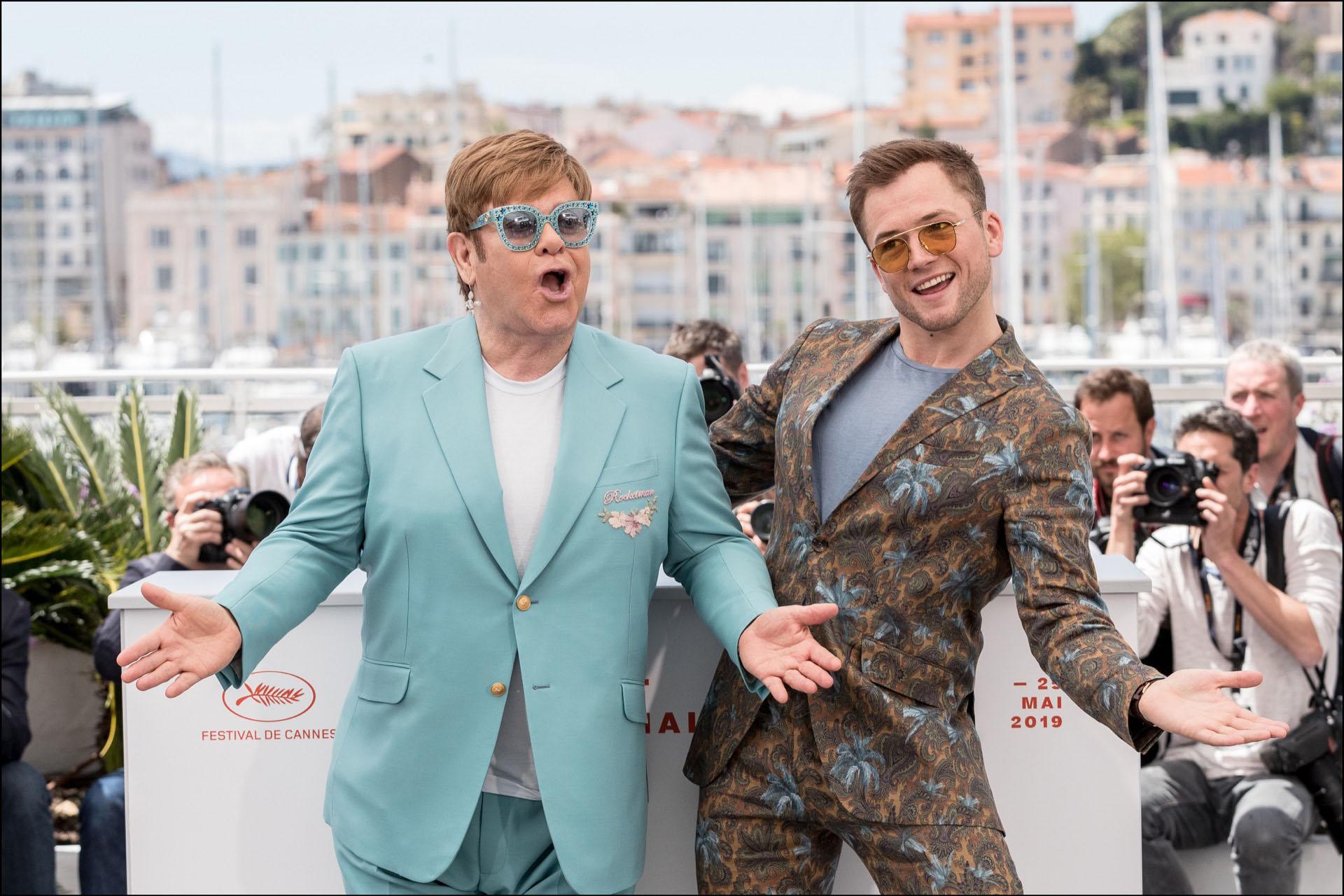 Elton John y Taron Egerton, estrellas del Festival de Cannes.