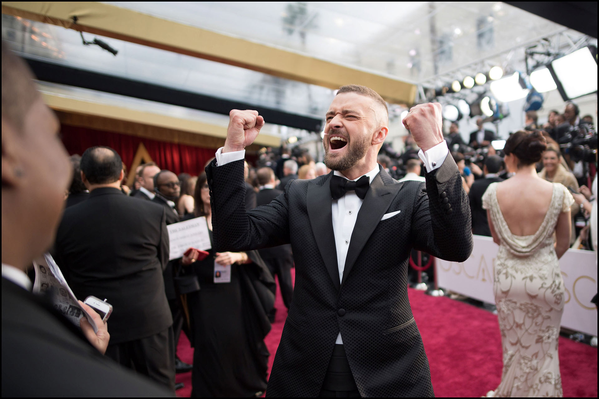 Oscar®-nominee Justin Timberlake arrives at The 89th Oscars® at the Dolby® Theatre in Hollywood, CA on Sunday, February 26, 2017.
