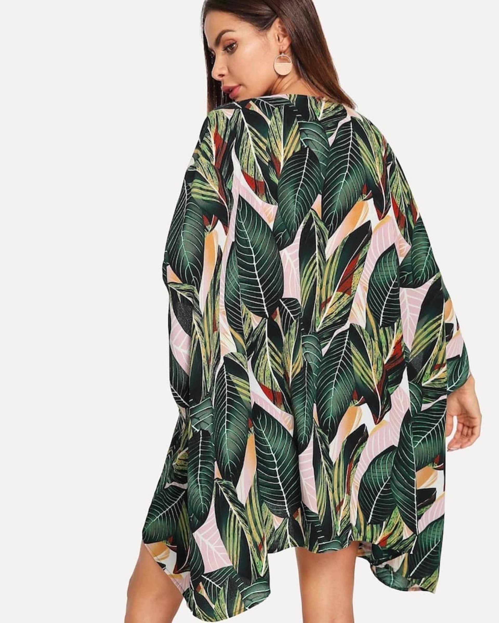 El kimono es un comodín para levantar cualquier look. Foto IG