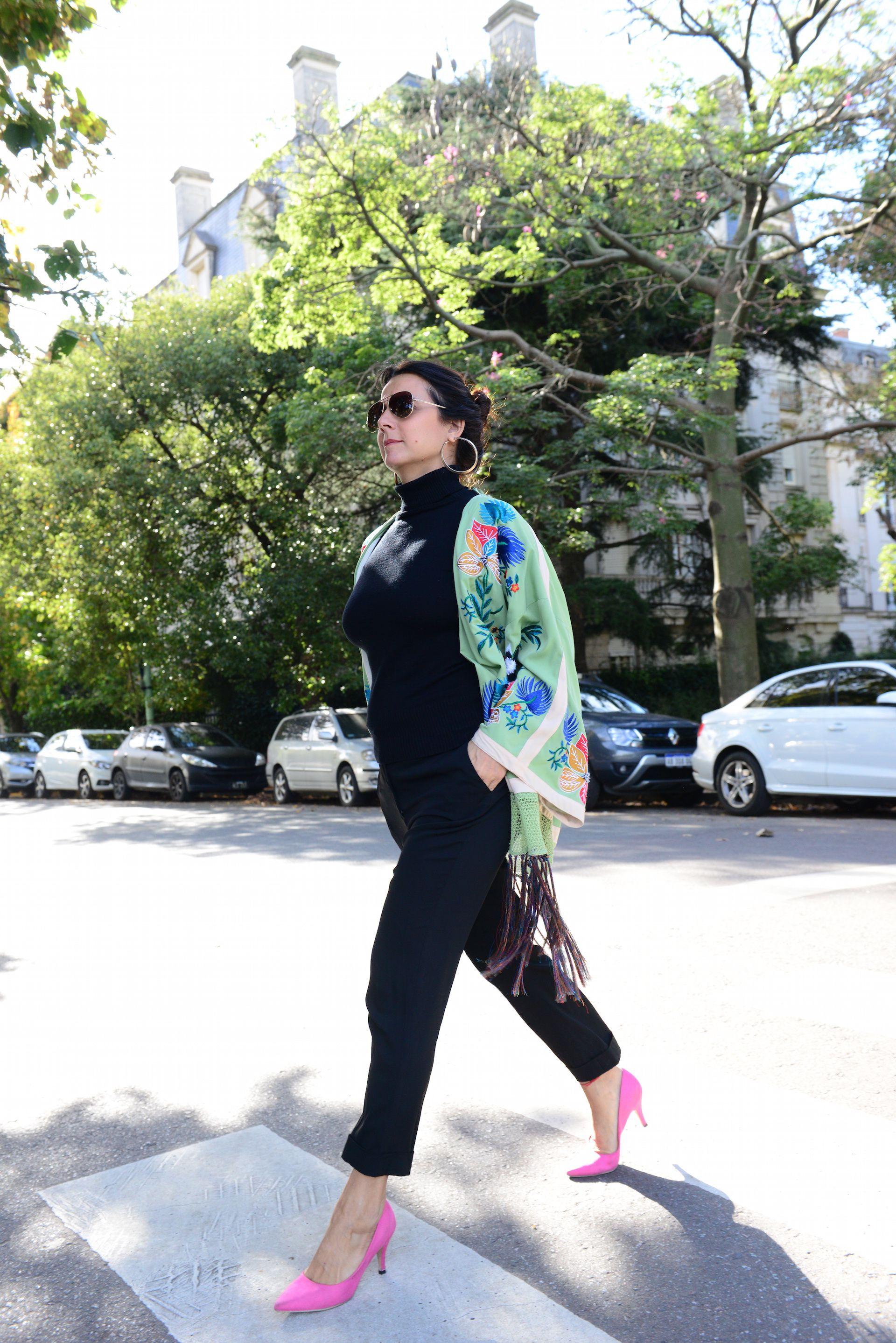 Marité Rizzo con kimono de Zara. Foto: A. Carra/Para Ti