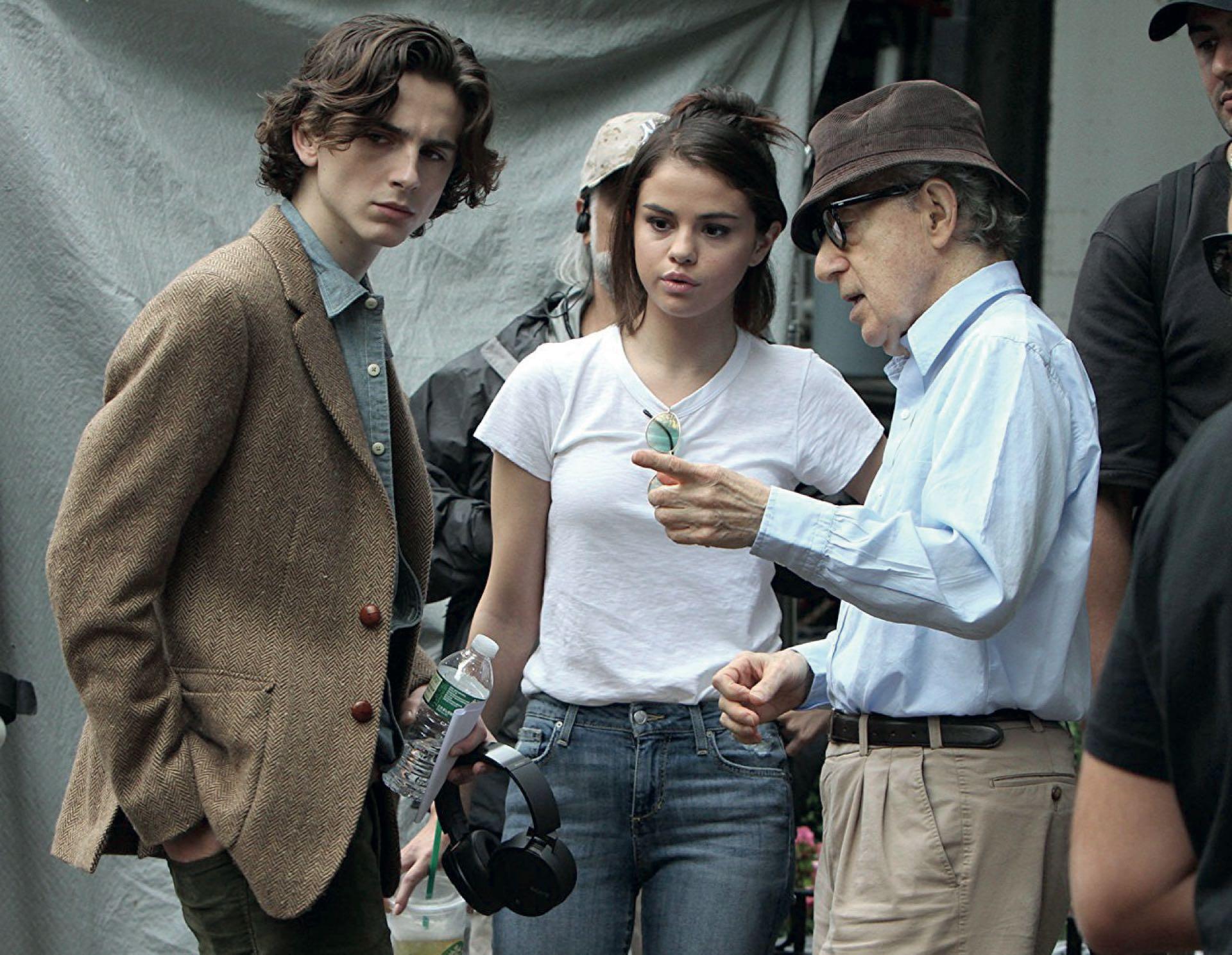 Chalamet bajo las órdenes de Woody Allen en el film A Rainy Day in New York