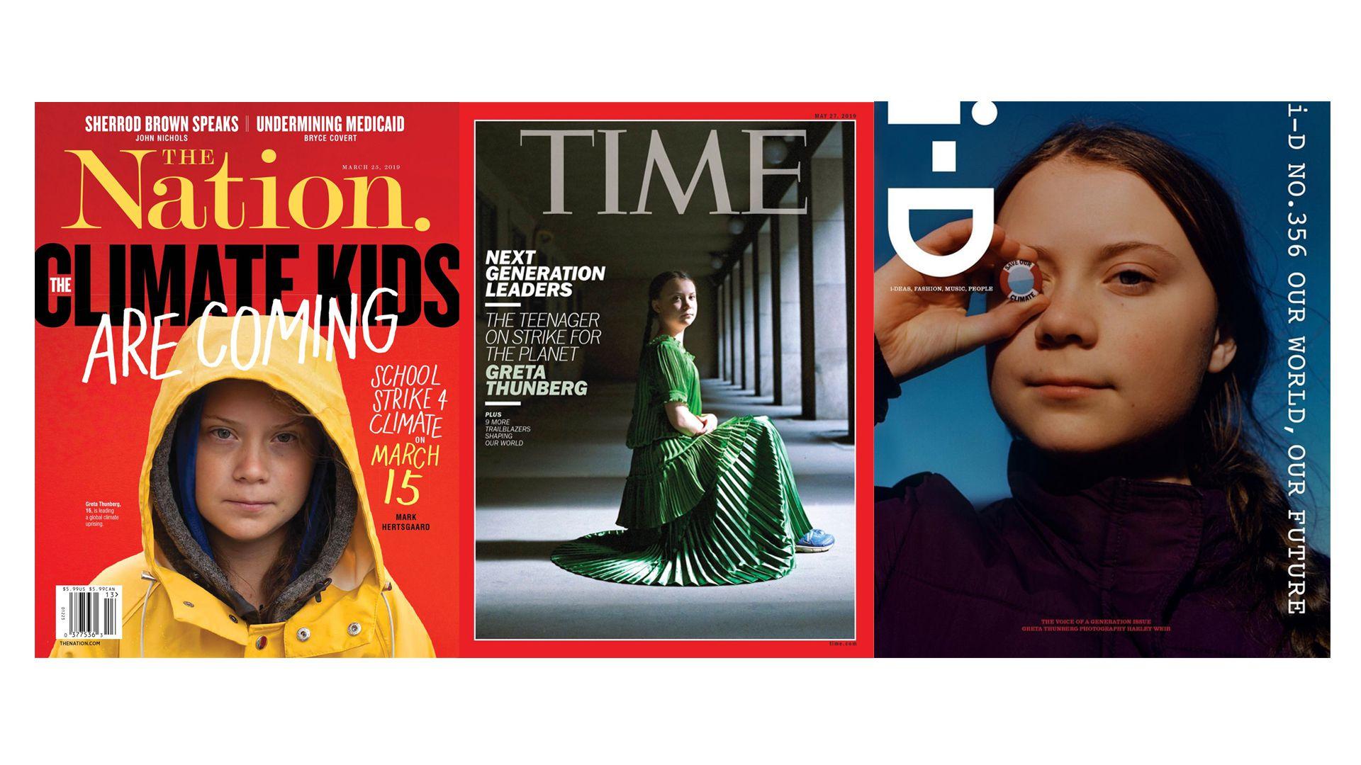 """""""Tenemos que cambiarlo todo y hacerlo ya"""". La voz y el mensaje de Greta Thunberg en primera plana."""