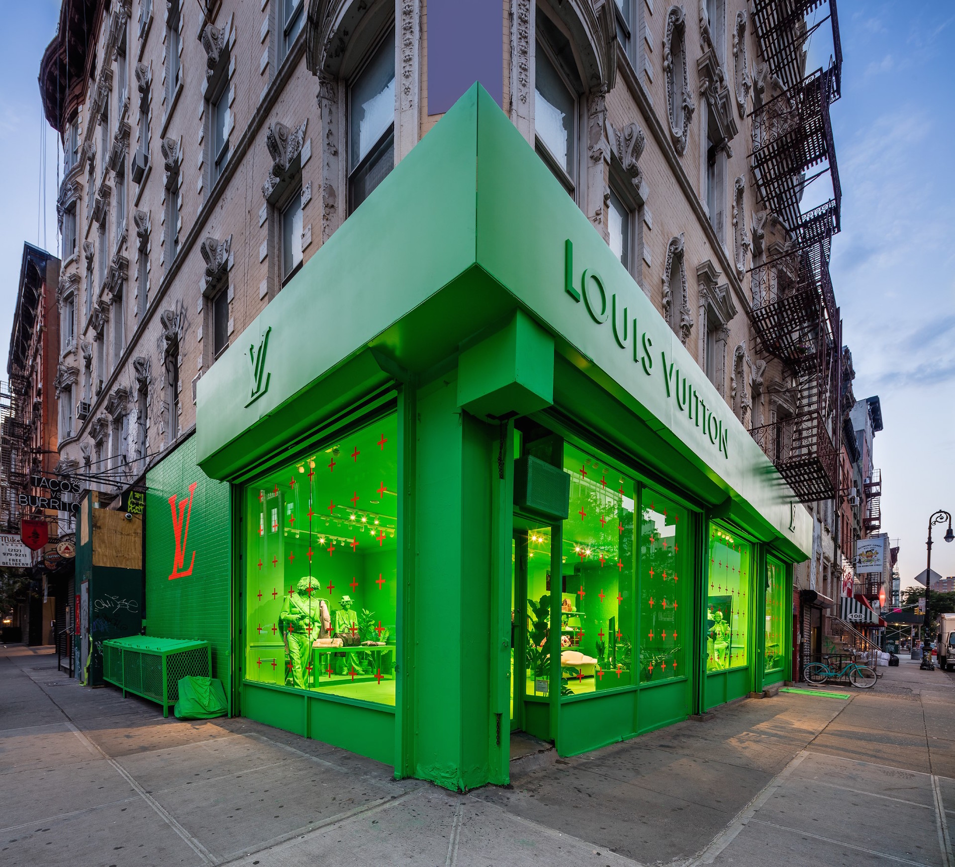 Ola verde: el nuevo pop up store de Louis Vuitton en NY